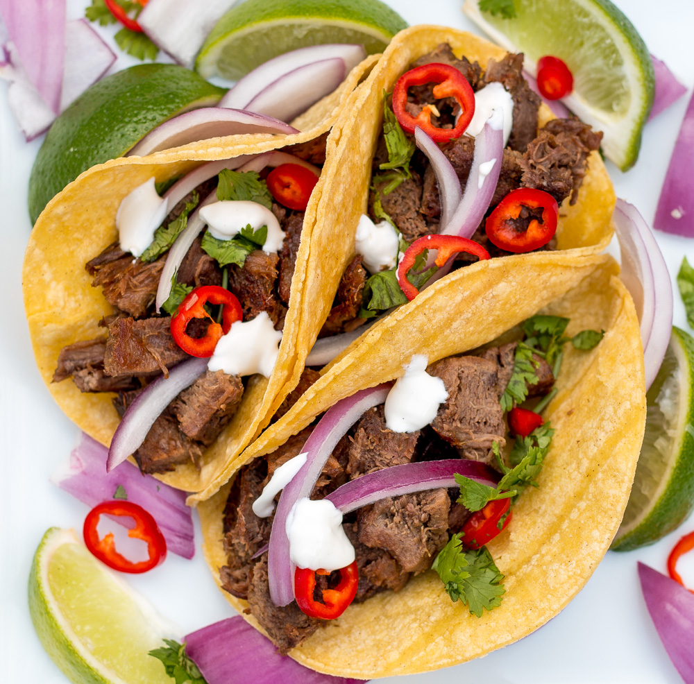 Lengua, beef tongue, tacos so quick and tender in the pressure cooker. It only takes 50 minutes to presssure